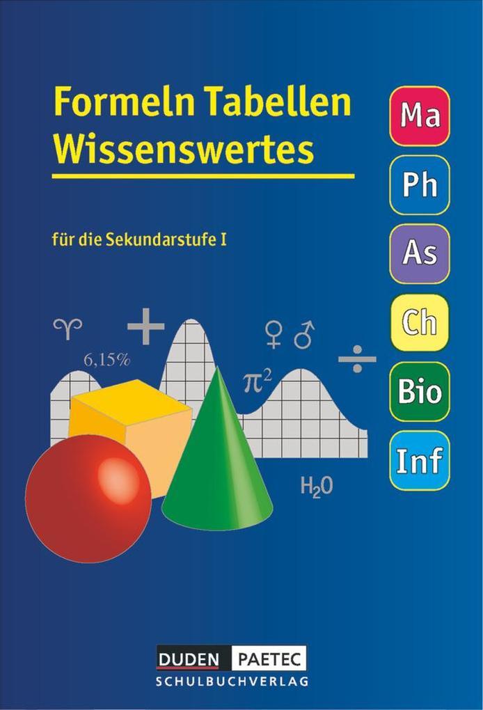 Formeln, Tabellen, Wissenswertes für die Sekundarstufe I. RSR als Buch (gebunden)