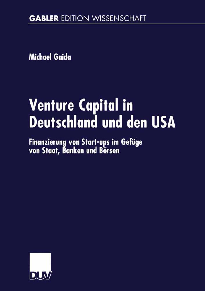 Venture Capital in Deutschland und den USA als Buch (kartoniert)
