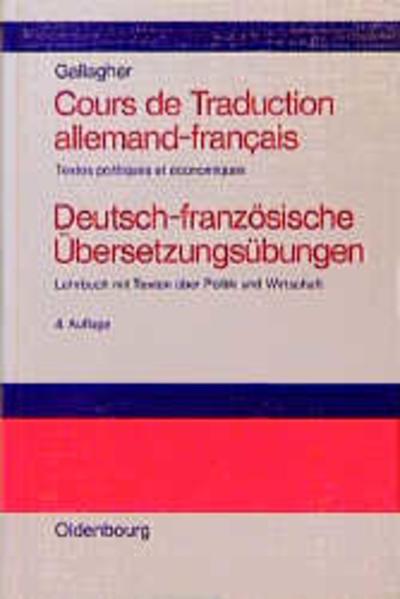 Cours de Traduction allemand-francais. Deutsch-französische Übersetzungsübungen als Buch (gebunden)