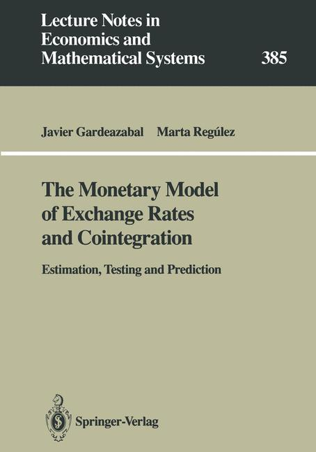 The Monetary Model of Exchange Rates and Cointegration als Buch (kartoniert)