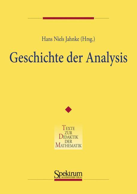 Geschichte der Analysis als Buch (kartoniert)