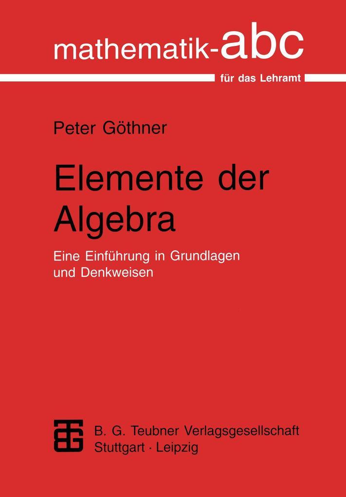 Elemente der Algebra als Buch (kartoniert)