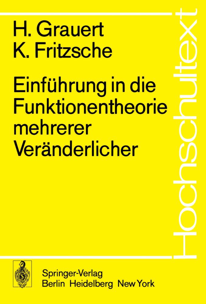 Einführung in die Funktionentheorie mehrerer Veränderlicher als Buch (kartoniert)