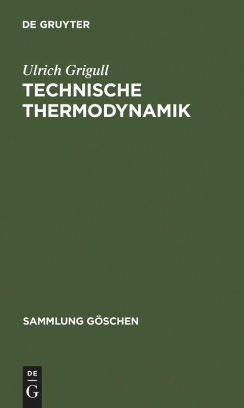 Technische Thermodynamik als Taschenbuch