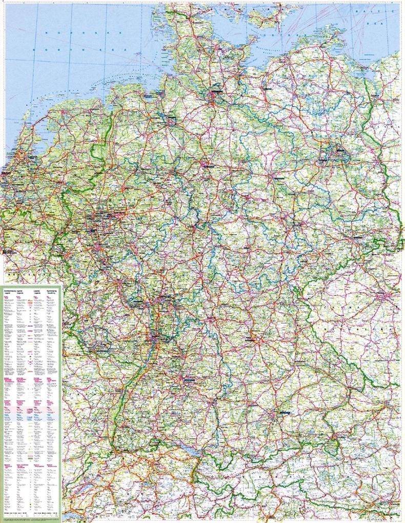 Die große Deutschlandkarte 1 : 750 000. Poster-Karte als Buch