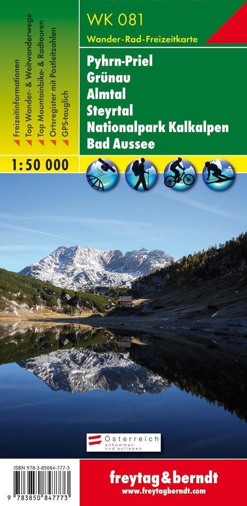 Pyhrn - Priel - Eisenwurzen - Grünau - Almtal - Steyrtal -Nationalpark Kalkalpen - Bad Aussee 1 : 50 000. WK 081 als Blätter und Karten