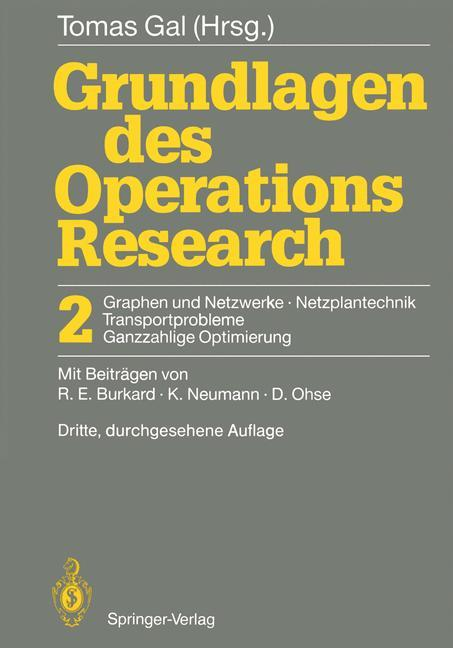 Grundlagen des Operations Research als Buch (gebunden)