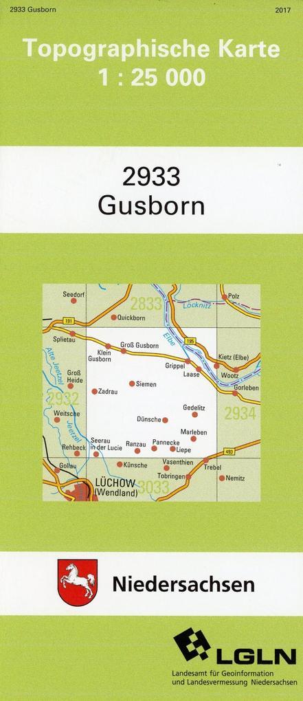 Gusborn 1 : 25 000 als Blätter und Karten