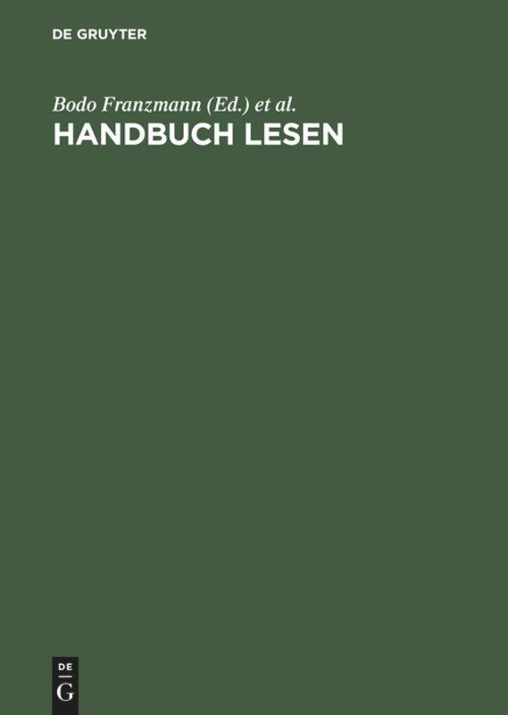 Handbuch Lesen als Buch (gebunden)