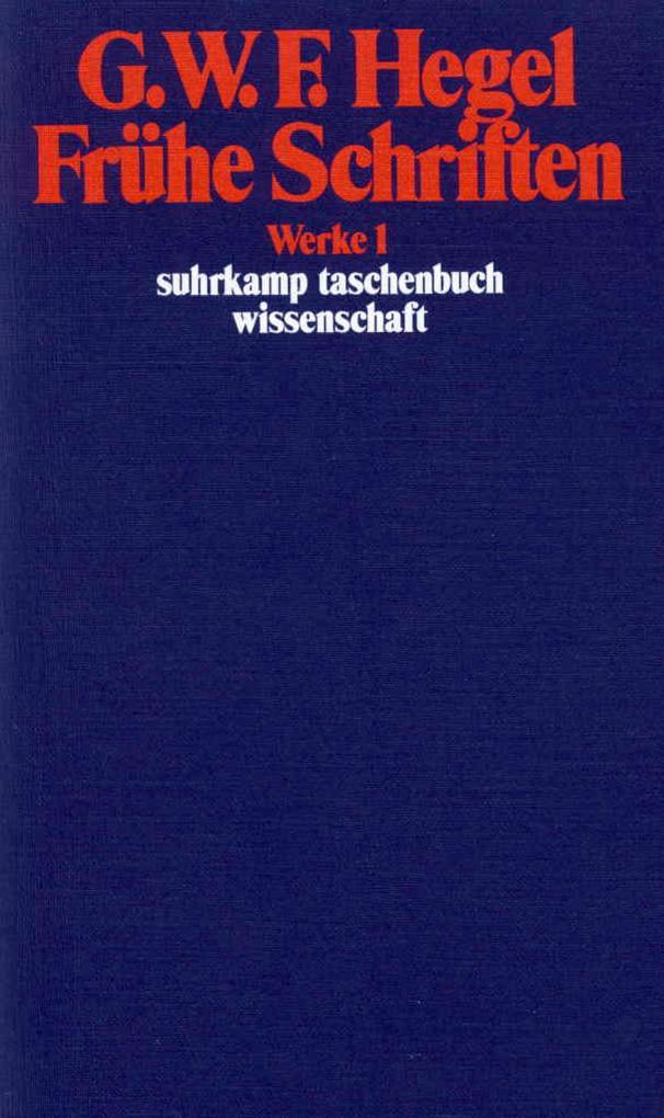 Frühe Schriften als Taschenbuch