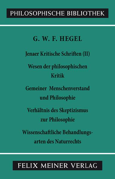 Jenaer Kritische Schriften 2 als Buch (kartoniert)