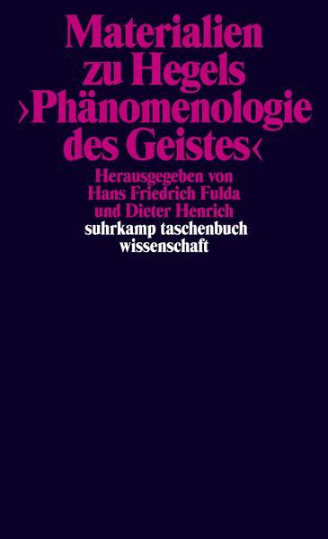 Materialien zu Hegels Phänomenologie des Geistes als Taschenbuch