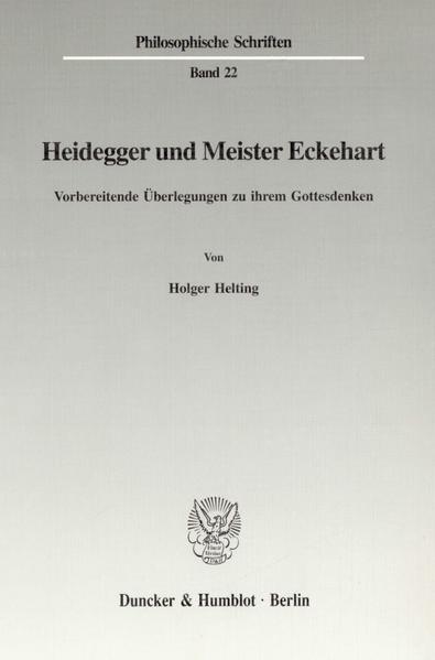 Heidegger und Meister Eckehart als Buch (kartoniert)