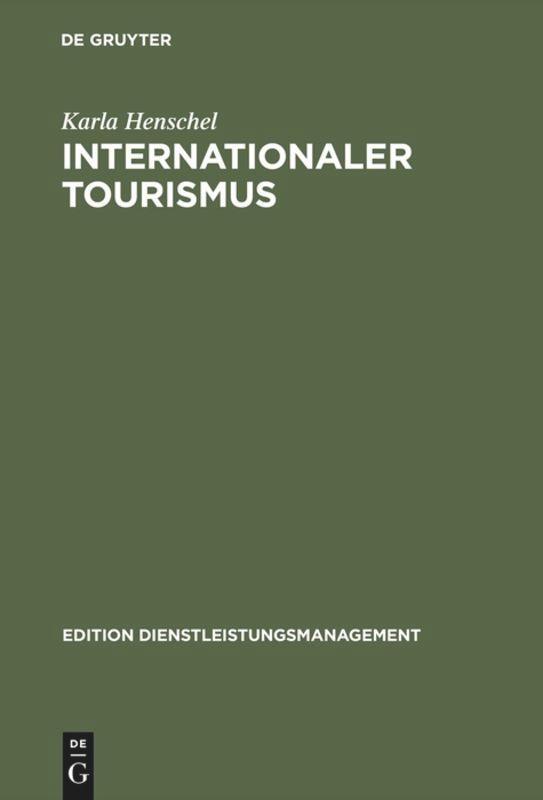 Internationaler Tourismus als Buch
