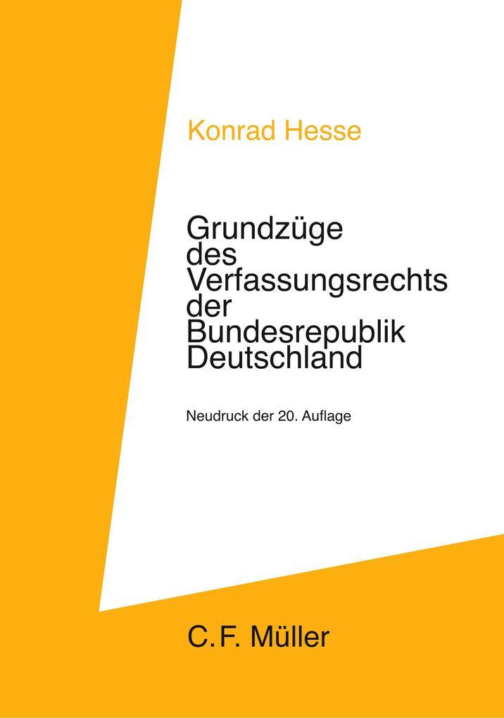 Grundzüge des Verfassungsrechts der Bundesrepublik Deutschland als Buch