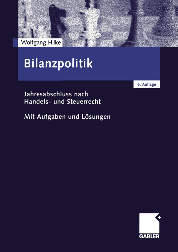 Bilanzpolitik als Buch (kartoniert)