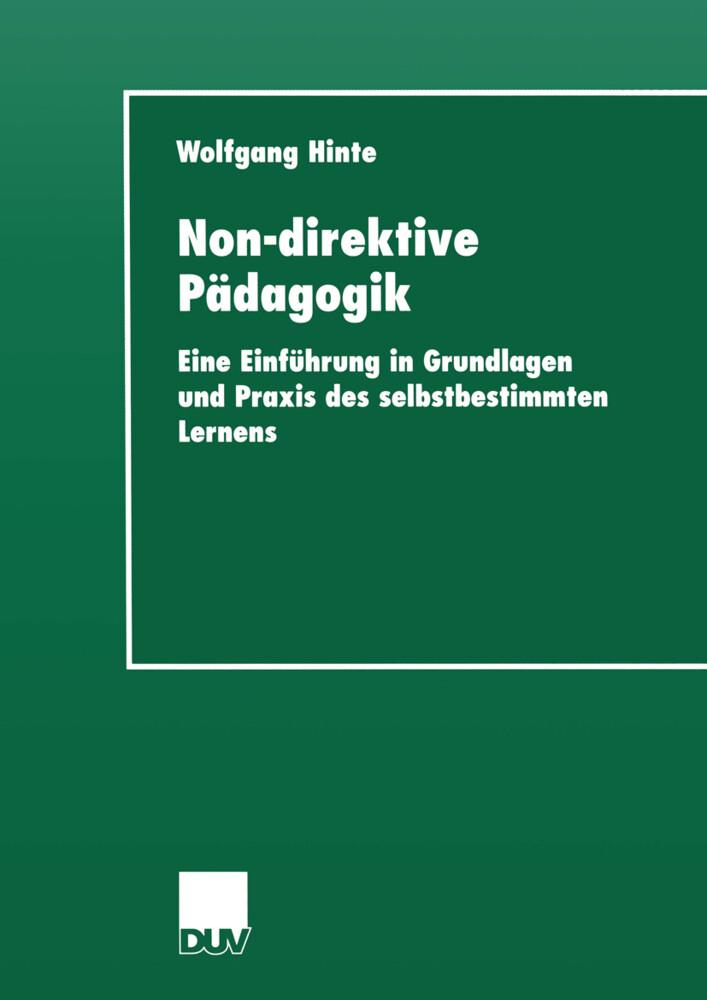 Non-direktive Pädagogik als Buch (kartoniert)