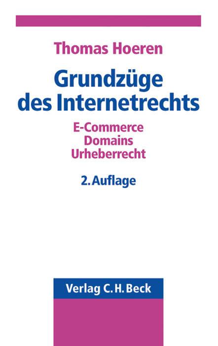 Grundzüge des Internetrechts als Buch (kartoniert)