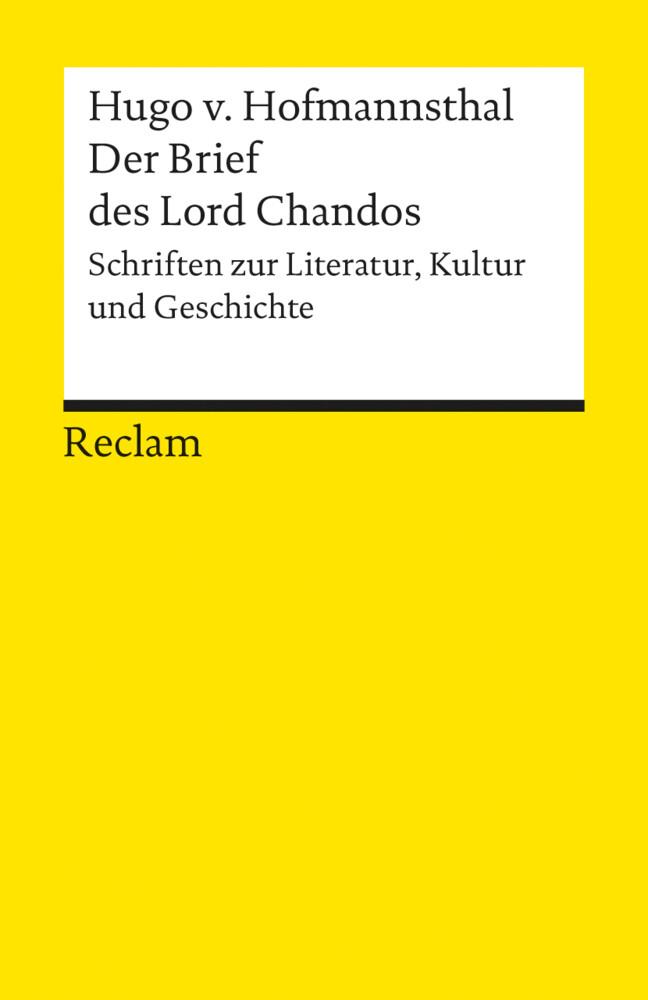 Der Brief des Lord Chandos als Taschenbuch