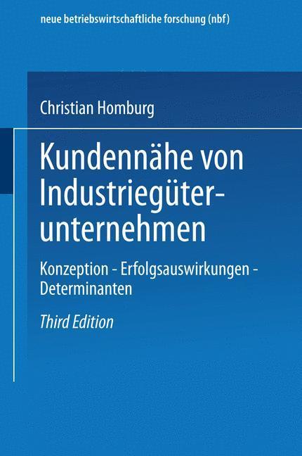 Kundennähe von Industriegüterunternehmen als Buch (gebunden)