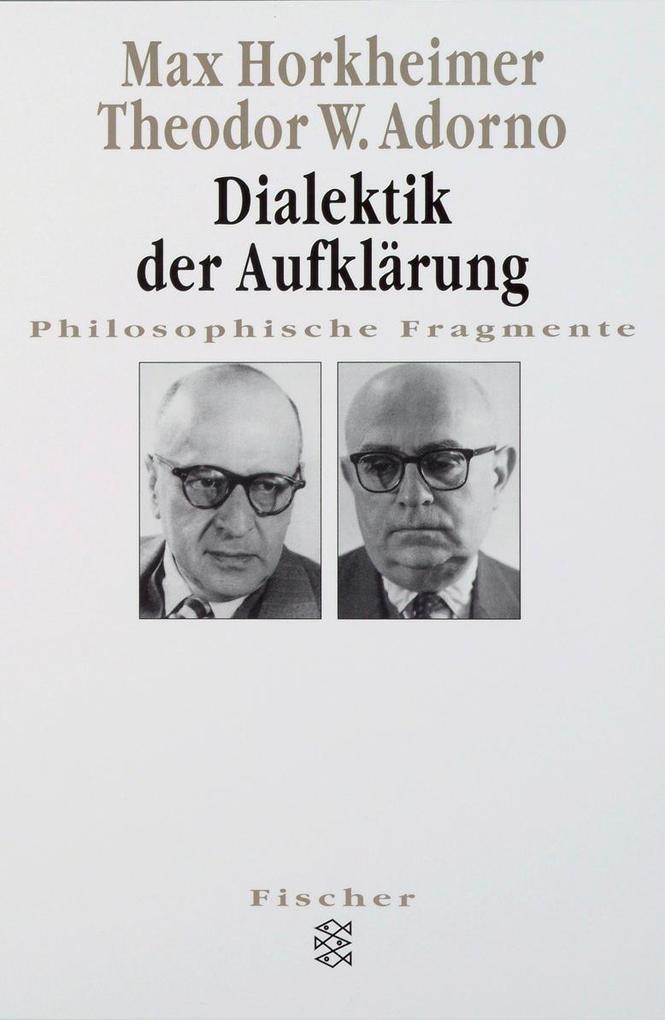 Dialektik der Aufklärung als Taschenbuch