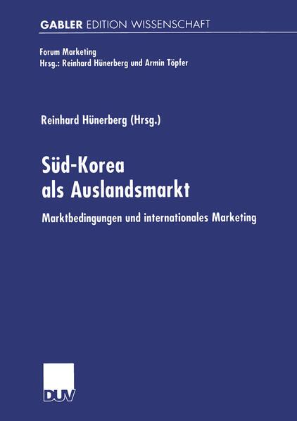 Süd-Korea als Auslandsmarkt als Buch (gebunden)