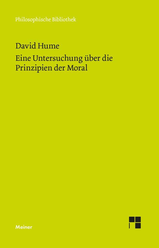 Untersuchung über die Prinzipien der Moral als Buch (kartoniert)