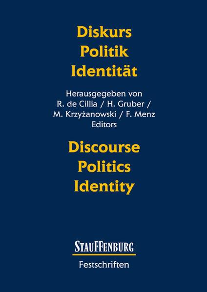 Diskurs - Politik - Identität  Discourse - Politics - Identity als Buch (kartoniert)