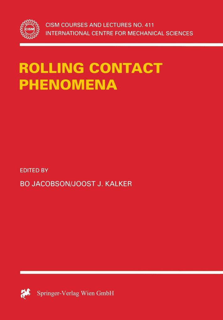 Rolling Contact Phenomena als Buch (gebunden)