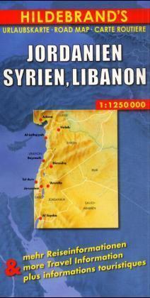 Jordanien, Syrien, Libanon 1 : 1 250 000. Hildebrand's Urlaubskarte als Blätter und Karten