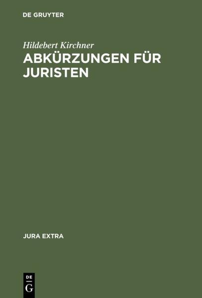 Abkürzungen für Juristen als Buch (kartoniert)