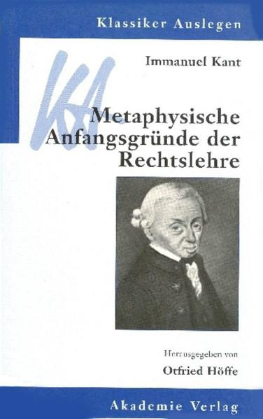 Metaphysische Anfangsgründe der Rechtslehre als Buch (kartoniert)