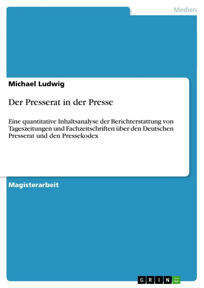 Der Presserat in der Presse als Buch (kartoniert)