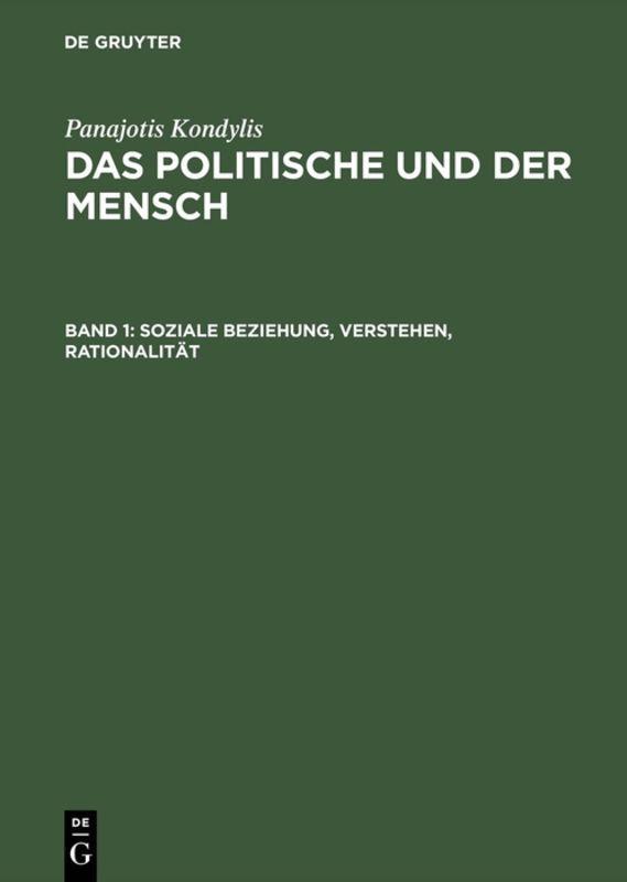 Soziale Beziehung, Verstehen, Rationalität als Buch (gebunden)