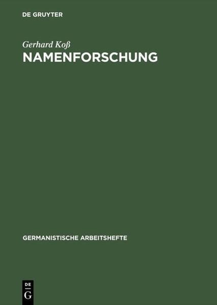 Namenforschung als Buch (kartoniert)