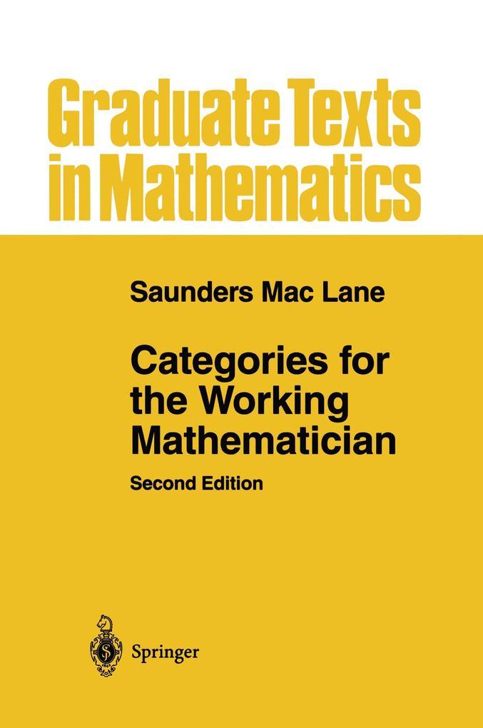 Categories for the Working Mathematician als Buch (kartoniert)
