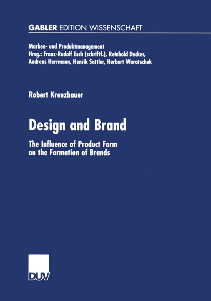 Design and Brand als Buch (kartoniert)