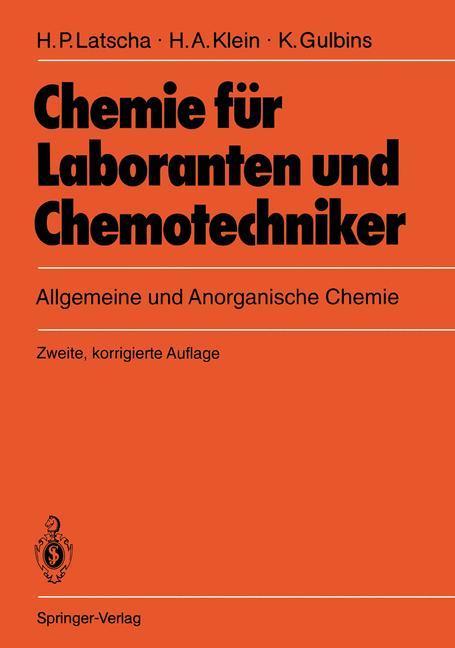 Chemie für Laboranten und Chemotechniker als Buch (gebunden)