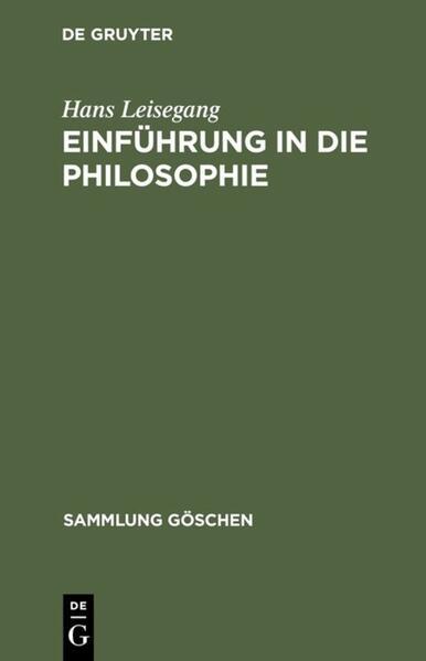 Einführung in die Philosophie als Buch (gebunden)