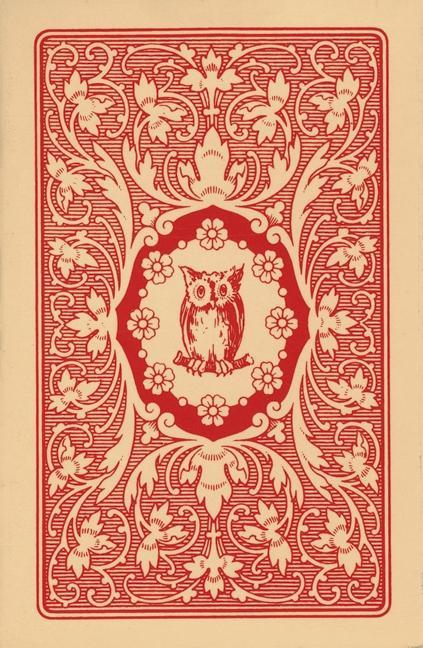 Lenormand Orakelkarten - rote Eule als Buch (kartoniert)