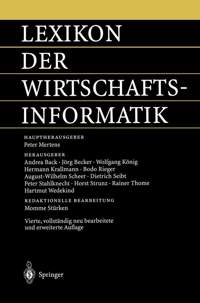 Lexikon der Wirtschaftsinformatik als Buch (kartoniert)