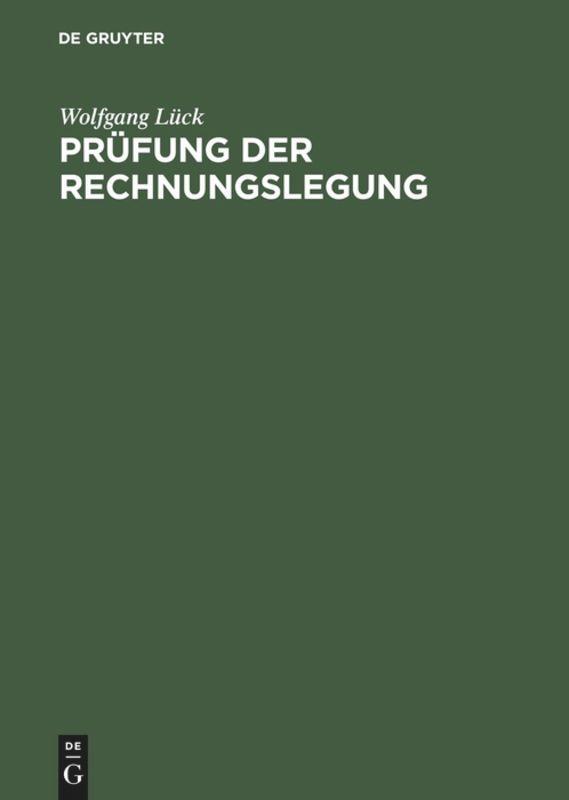 Prüfung der Rechnungslegung als Buch (gebunden)