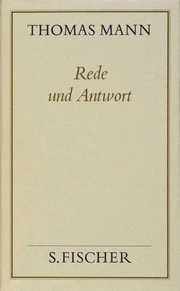 Rede und Antwort ( Frankfurter Ausgabe) als Buch (gebunden)
