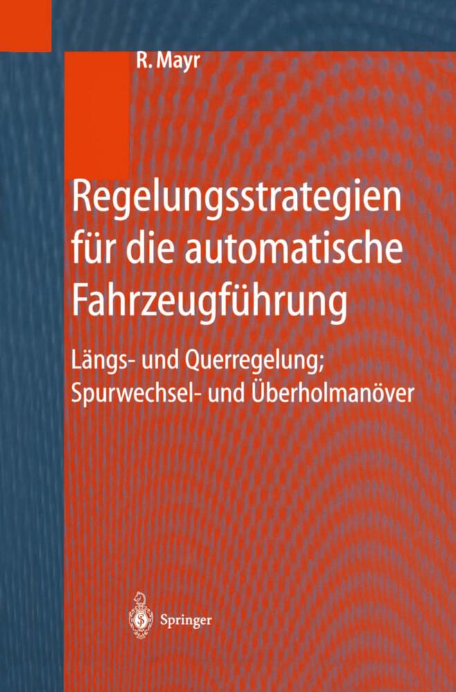 Regelungsstrategien für die automatische Fahrzeugführung als Buch (gebunden)