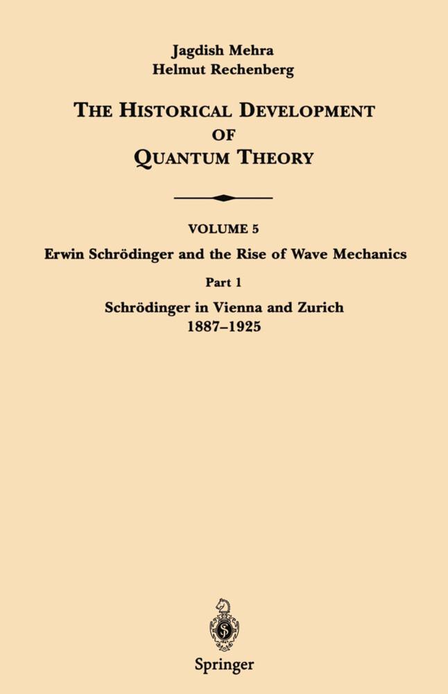 Part 1 Schrödinger in Vienna and Zurich 1887-1925 als Buch (kartoniert)