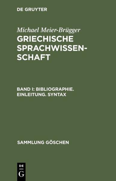 Bibliographie. Einleitung. Syntax als Taschenbuch