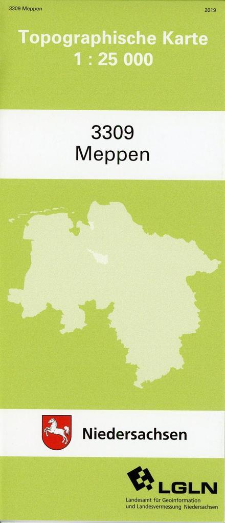 Meppen 1 : 25 000. (TK 3309/N) als Blätter und Karten
