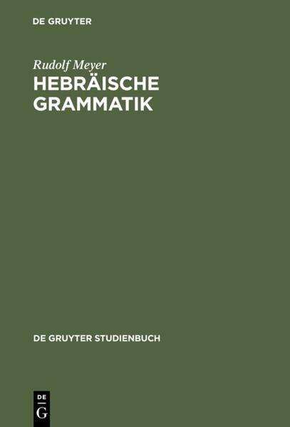 Hebräische Grammatik als Buch (gebunden)