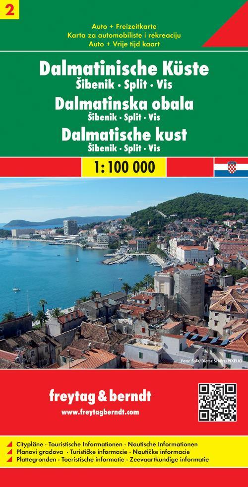 FuB Dalmatinische Küste 02. Sibenik - Split - Vis 1 : 100 000 als Blätter und Karten
