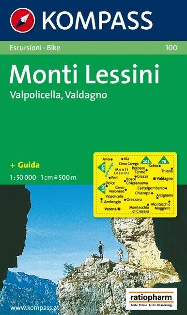 Monti Lessini, Valpolicella, Valdagno 1 : 50 000 als Blätter und Karten
